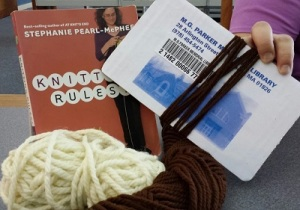 Take out books on knitting OR drop in to our weekly Knitting Club, every Wednesday from 6pm-8pm
