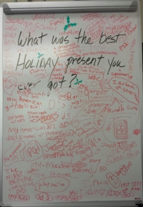 Hoilday White Board 2013